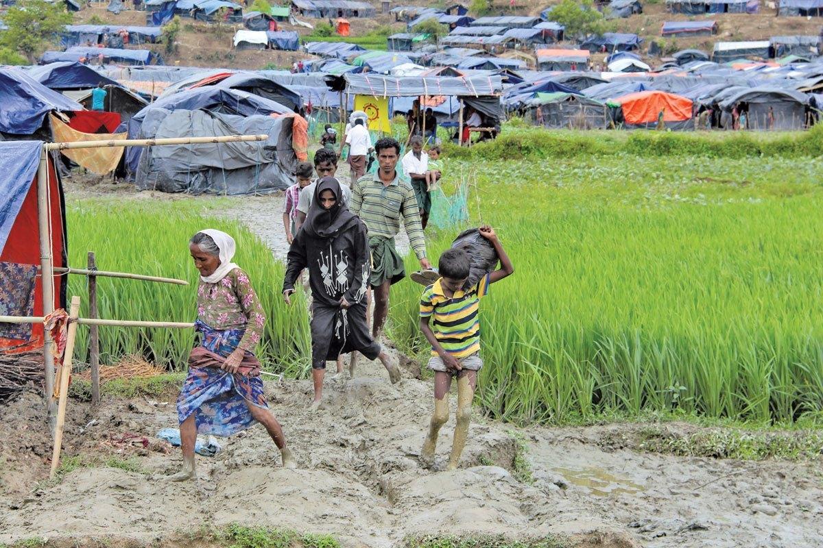 Refugiados en campamentos en Africa Subsahariana.
